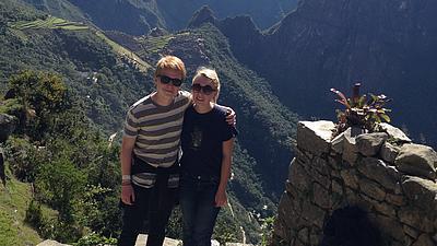 Foto von Paul Krumbiegel und seiner Freundin aus Chile.