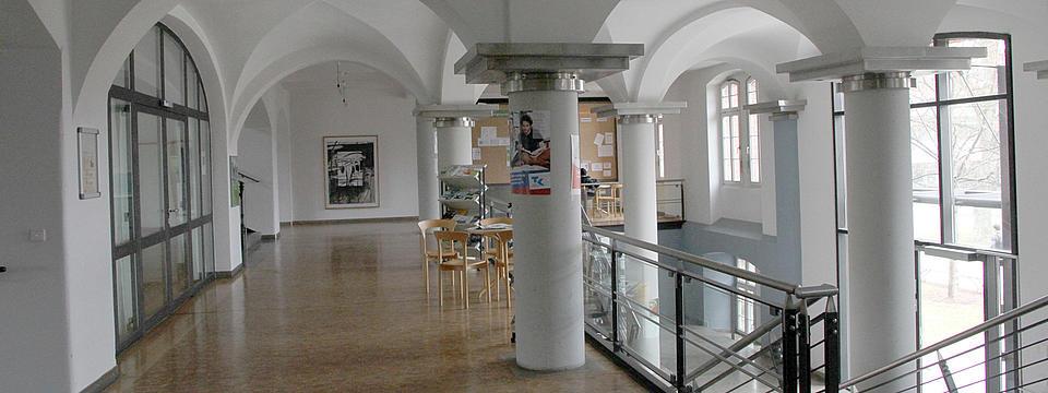 Empfangsraum der Hochschule Ansbach