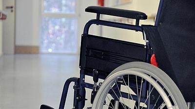 Aufnahme eines Rollstuhls.