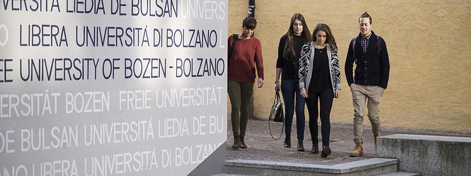 Studierende der Uni Bozen.