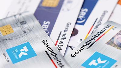 Verschiedene Versicherungskarten.