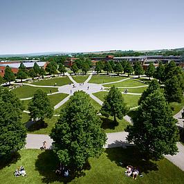 Der Campus der Uni Bayreuth.