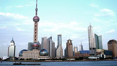 Skyline von Shanghai.