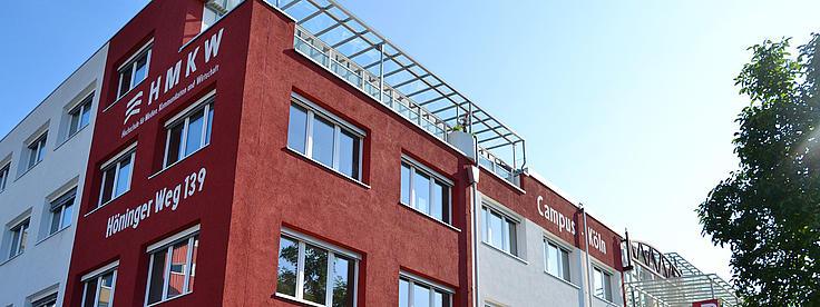 Aussenansicht des Campus in Köln.