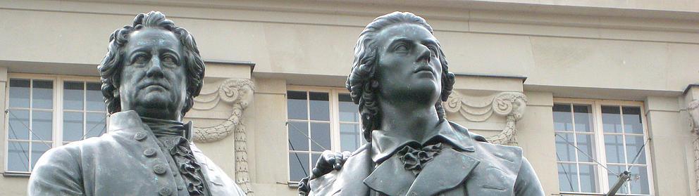 Denkmal von Goethe und Schiller in Weimar