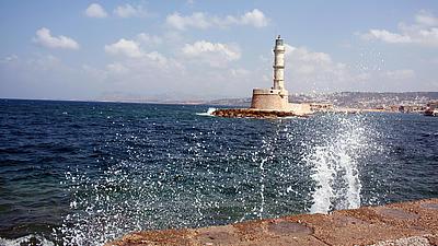 Ein Leuchtturm am Mittelmeer.