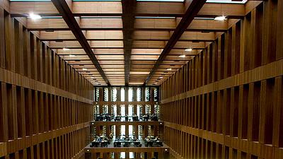 Lesesaal der Humboldt Universität in Berlin.