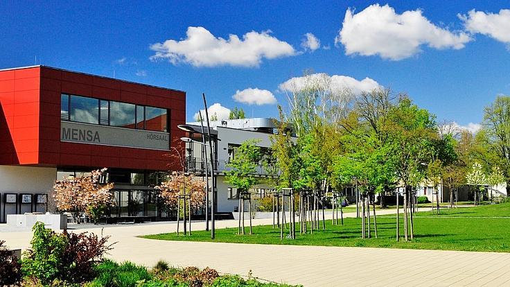 Panorama des Campus der FH der Polizei Sachsen-Anhalt.