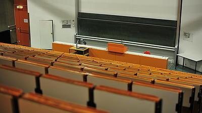 Hörsaal der Uni Würzburg
