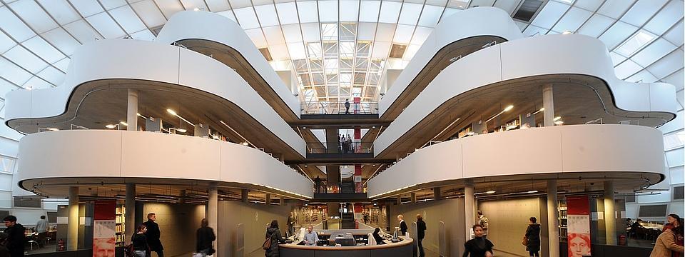 Die Bibliothek der FU Berlin.