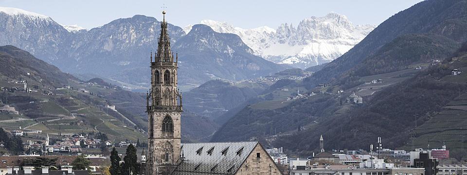 Panoramafoto von Bozen.