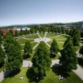 Das Rondel auf dem Campus der Uni Bayreuth.