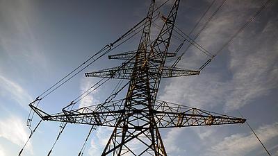 Stromleitungen.