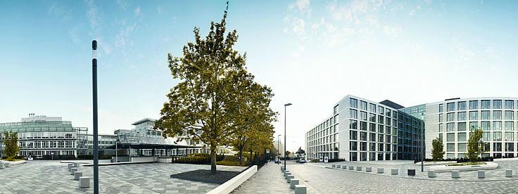 Panoramafoto des Campus der R+V Versicherung.