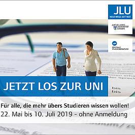 Werbeanzeige der JLU Gießen